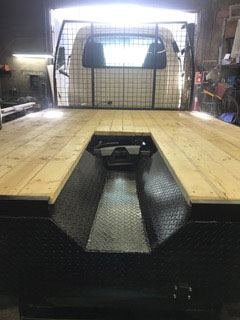 Custom flat bed truck installation